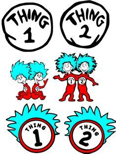 Thing 1 2 3 4 Dr Seuss Svg Cut File Set For Matching Shirts Halloween Shirt Cricut And Thing 1 Editable Template