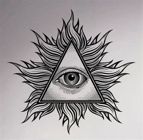 illuminati the eye all seeing eye wall vinyl decal illuminati sigh pyramid