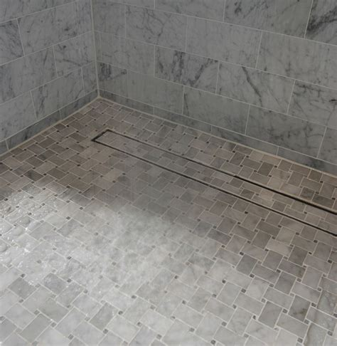 Tile In Shower Drain by Can You Find The Luxe Linear Shower Drain Tile Insert In