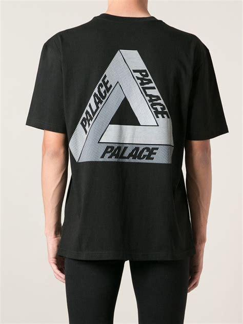 Kaos Tshirt Palace 4 lyst palace logo t shirt in black for