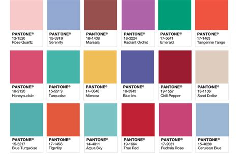pantone color of the year list pantone picks rose quartz and serenity as 2016 color of