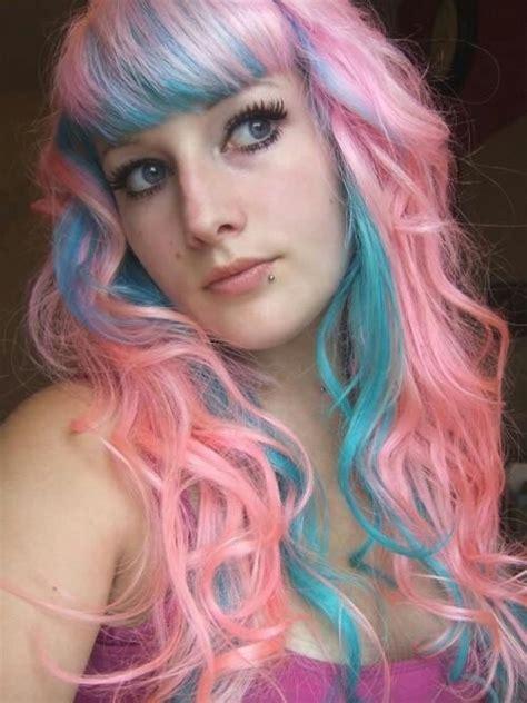 pink  aqua mermaid hair hairstyles pinterest pink