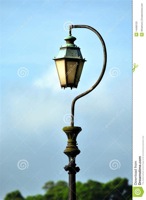 antique question mark shaped lamp post stock image image