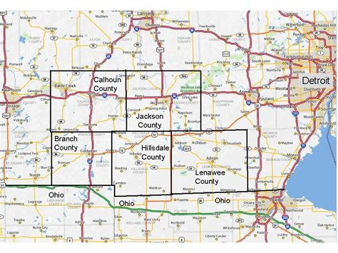 Southern michigan county map publicscrutiny Image collections