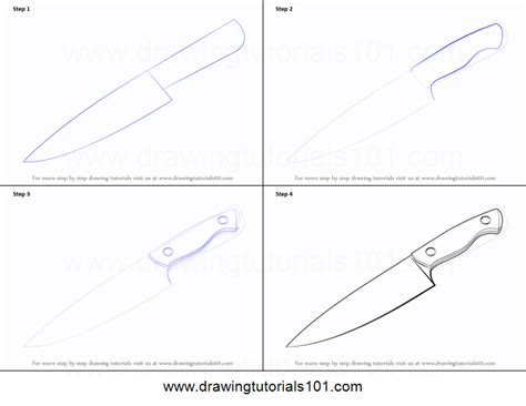 knife steps how to draw a knife printable step by step drawing sheet
