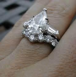 wedding rings 3 carats 3 carat pear shaped engagement rings wedding and bridal