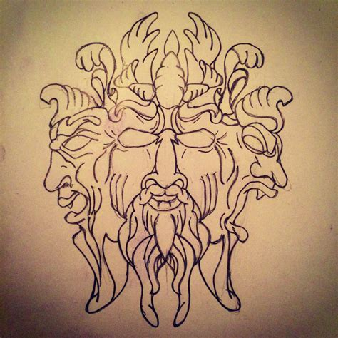 power tattoo designs three faces of power s sketches