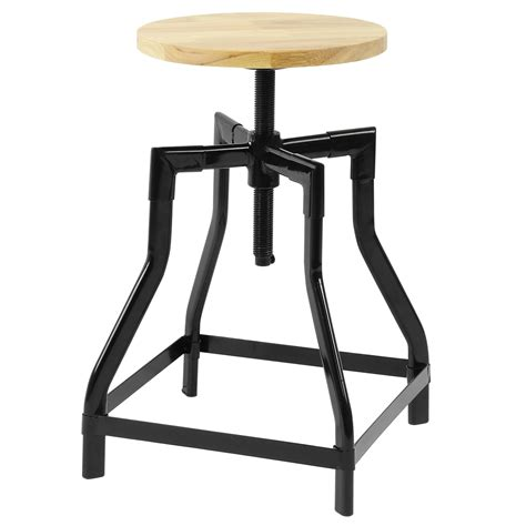 Vintage Bar Table And Stools Hartleys Low Retro Swivel Bar Table Stool With Height Adjustable Wood Seat Ebay