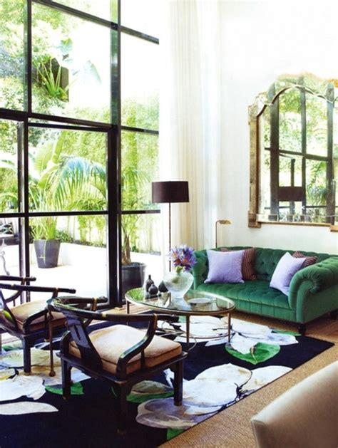 Living Room With Green Velvet Sofa Green Velvet Sofas Design Manifestdesign Manifest