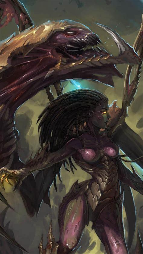 queen  blades starcraft zerg artwork swarm wallpaper