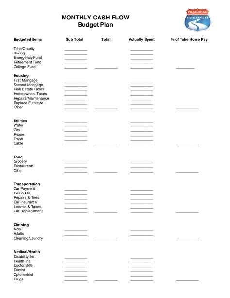 16 Best Images Of Dave Ramsey Budget Worksheet Pdf Free Printable Dave Ramsey Budget Dave Ramsey Flow Template