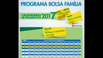 Calendario Bolsa Familia 2017 Calend 225 Pagamentos Do Bolsa Fam 237 Lia 2017