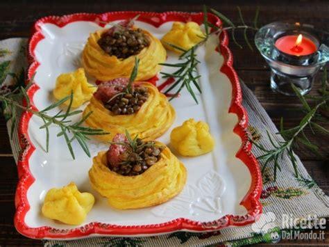 come cucinare le lenticchie e cotechino cestini di patate con lenticchie e cotechino