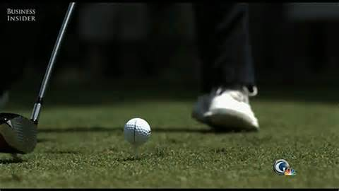 golf swing impact slow motion slow motion gif shows what happens to tiger woods golf