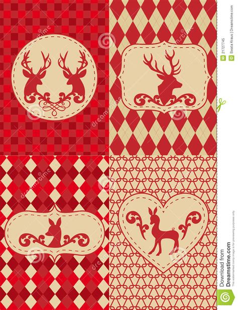 christmas paper pattern vector christmas pattern with deers vector royalty free stock
