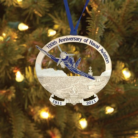 100th anniversary naval aviation christmas ornament
