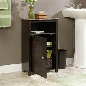 sauder bathroom storage sauder peppercorn free standing cabinet reviews wayfair