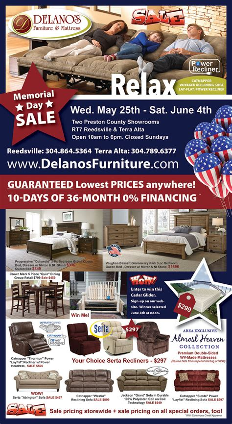 Furniture Memorial Day Sale by Memorial Day Sale 2016 Delano S Furniture And Mattress