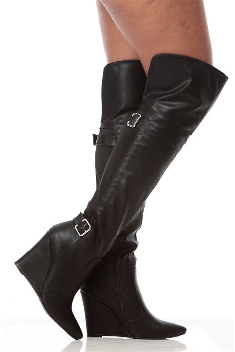 thigh high wedge boots boot 2017