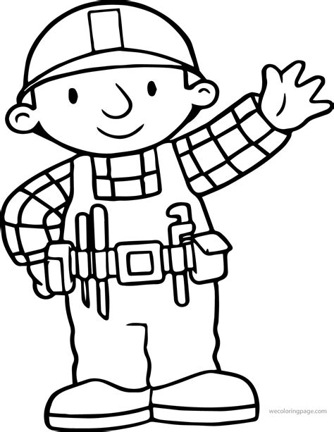 bob the builder coloring pages bob the builder hi coloring page wecoloringpage