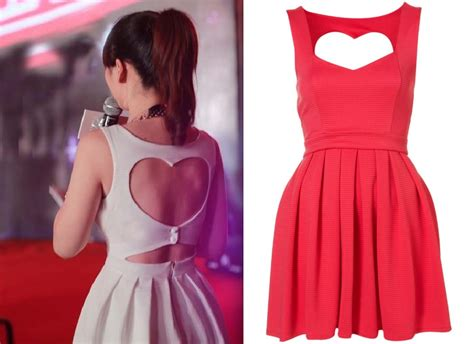 dress pattern heart back sexy cut out back heart dress 2 colors on luulla