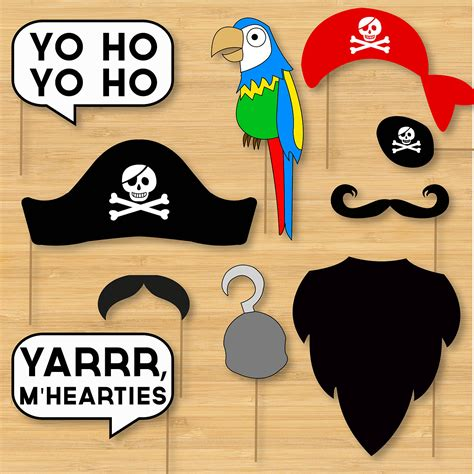 Free Printable Photo Booth Props Pirate | diy pirate photo booth props moustaches beards hats