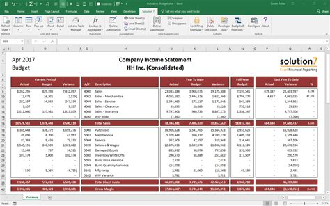 excel financial report gse bookbinder co