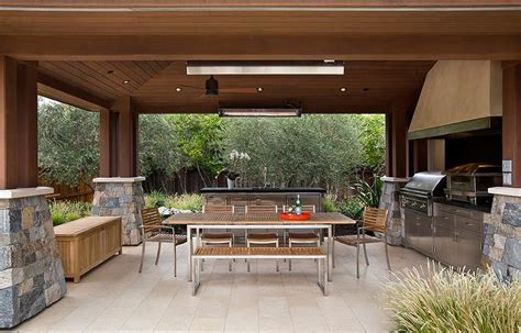 Modern Dining Table With Bench by Outdoor Kitchen Ideas Country Deck Patio Ttm Development
