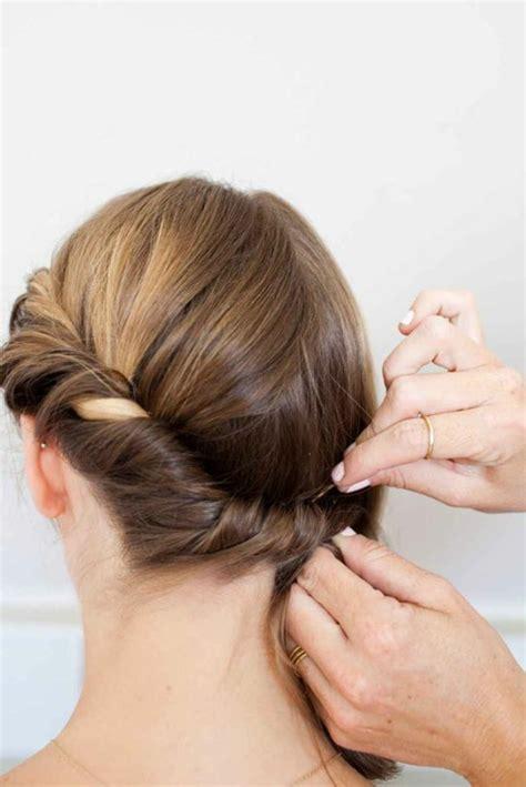 coiffure des cheveux 1001 id 233 es de coiffures avec un chignon rapide