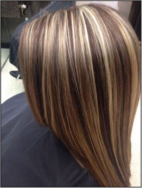 thin highlights vs chunky highlights brown hair with chunky blonde and auburn highlights