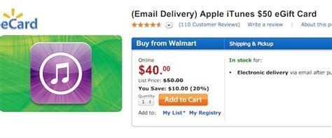 Sell Gift Cards Walmart - free money walmart is selling 50 itunes gift cards for 40 cult of mac
