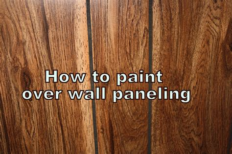 How To Paint Over Wood Paneling | how to paint paneling binkies and briefcases