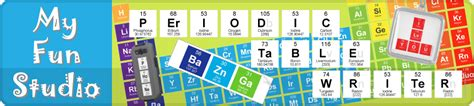Periodic Table Word Maker by Periodic Table Writer Chemistry Elements 187 Studio