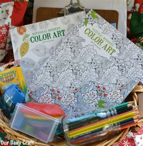 coloring book for adults gift basket relax the holidays with coloring books for adults