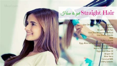 home tricks to make the hair straight from top and curly from bottom 18 tips on how to get straight hair naturally at home