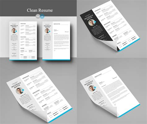 resume cover letter template free resume and cover letter psd template psd