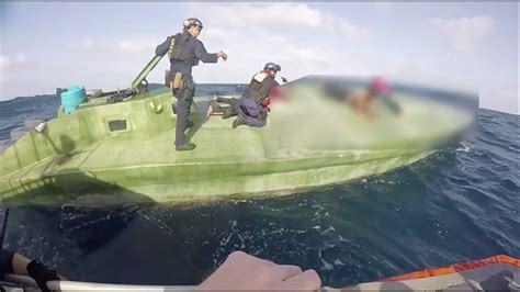 go fast boat youtube coast guard interdicts drug smuggling low profile go fast