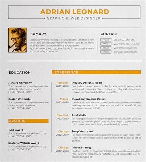 Sample Resume Design by Designer Resume Template 8 Free Samples Examples