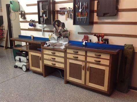 workshop table layout miter saw workstation by scott landry lumberjocks com