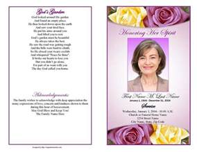 free funeral program template publisher funeral program templates purple