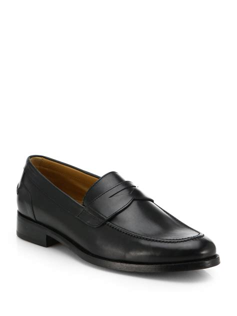 cole han loafers cole haan brady loafers in black for lyst
