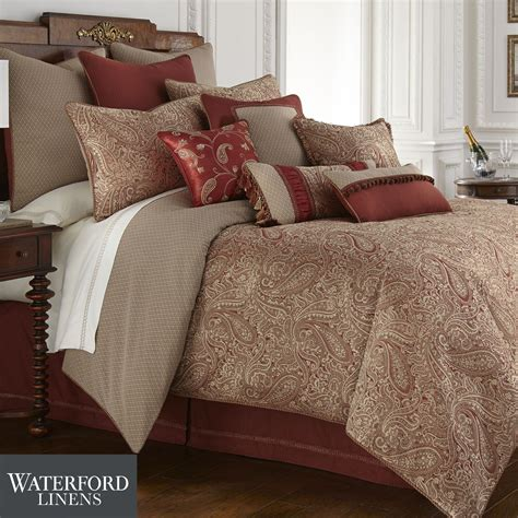 paisley bedding cavanaugh paisley comforter bedding by waterford linens