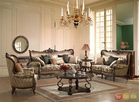 room set traditional european design formal living room set w carved wood