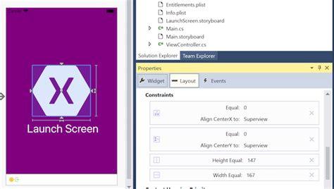 auto layout programmatically xamarin launch screens xamarin microsoft docs
