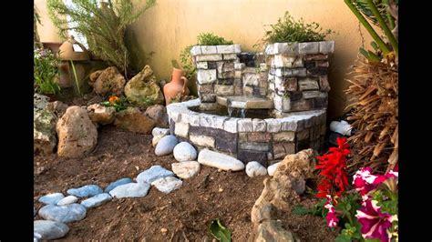 fuente de jard n decorando el jardin con fuente de agua youtube