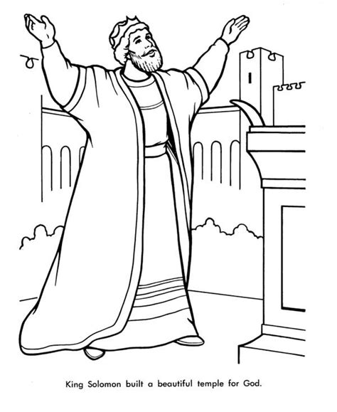 coloring page king solomon solomons temple free coloring pages