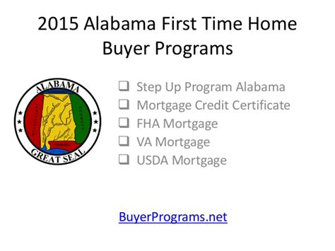 2015 alabama time home buyer programs