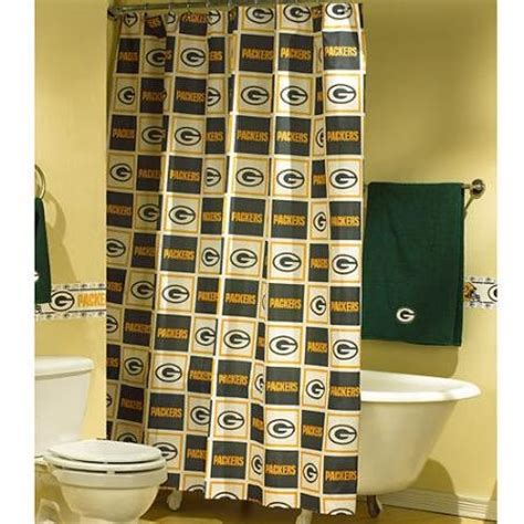 green bay packers shower curtain discount fan sport shower curtain to sale sale