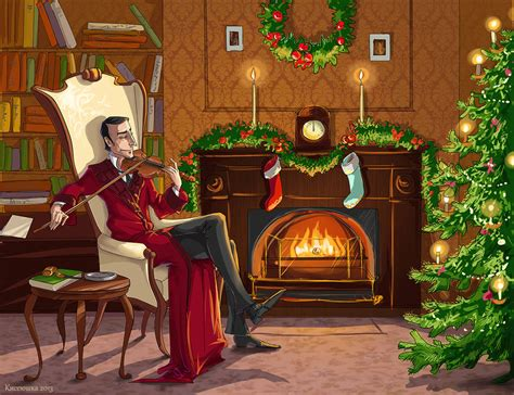 christmas sherlock holmes by kissyushka on deviantart