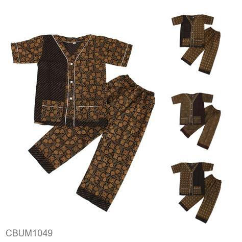 Piyama Anak Motif baju batik piyama anak motif capocino setelan murah